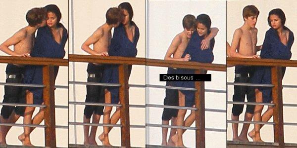 02.01.11   Justin & Selena nous montrant leur amour au bord d'une piscine à leur hotel dans les Caraïbes !