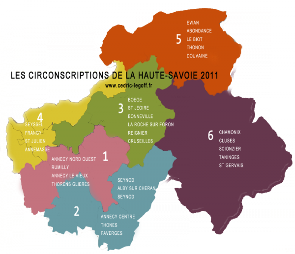 les différentes circonscriptions de Haute-Savoie