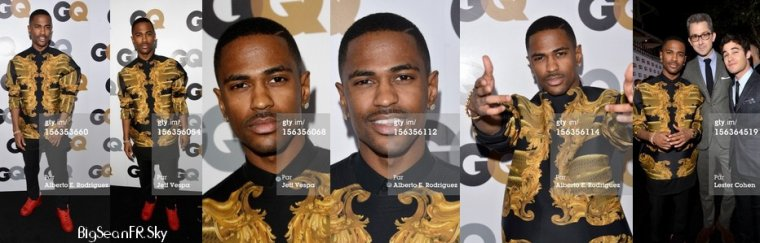 "Big Sean at The GQ Men Of The Year Party, ""Fear"" webisode, ""Hall Of Fame"" repoussé"