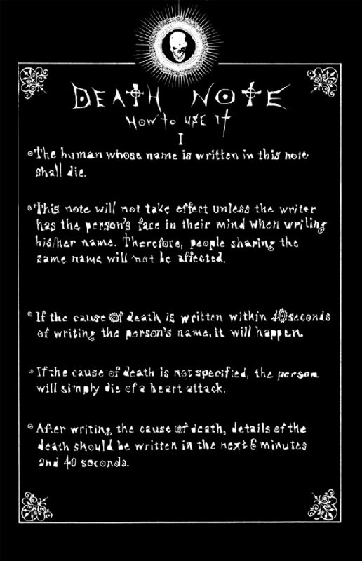 death note..