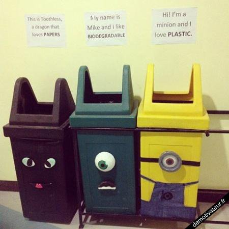 Le recyclage c'est important
