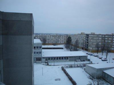 la neige de ma fenêtre de derrière