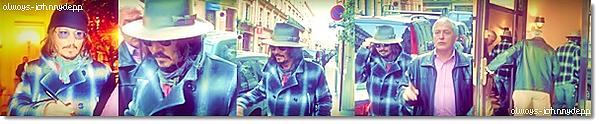 • Johnny accompagné de son garde du corps dans les rues, ce 2 décembre 2010 :) •