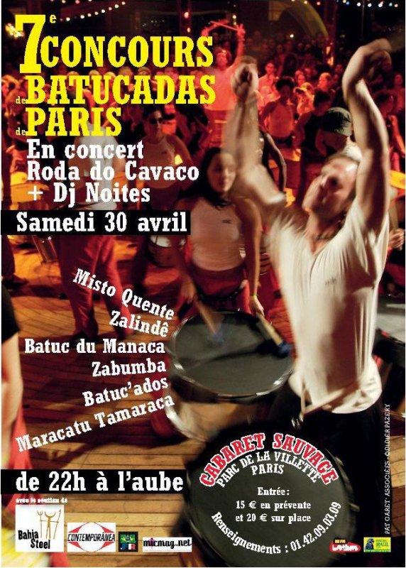 Prochain rendez vous avec les Batuc'ados au Cabaret Sauvage le 30 Avril 2011