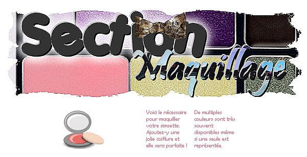 Section maquillage