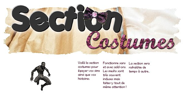 Section costumes
