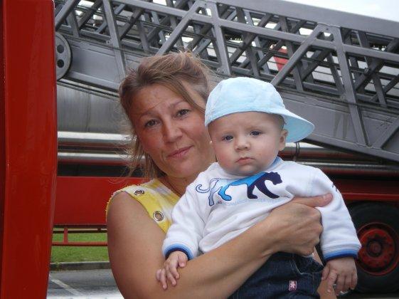 ma maman avec mon bebe