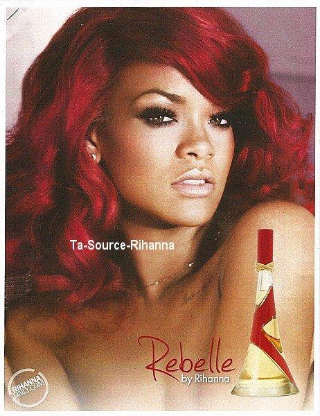 """24 Octobre 2011 - Photo promotionnelle pour le nouveau parfum de Rihanna """"Rebelle""""."""