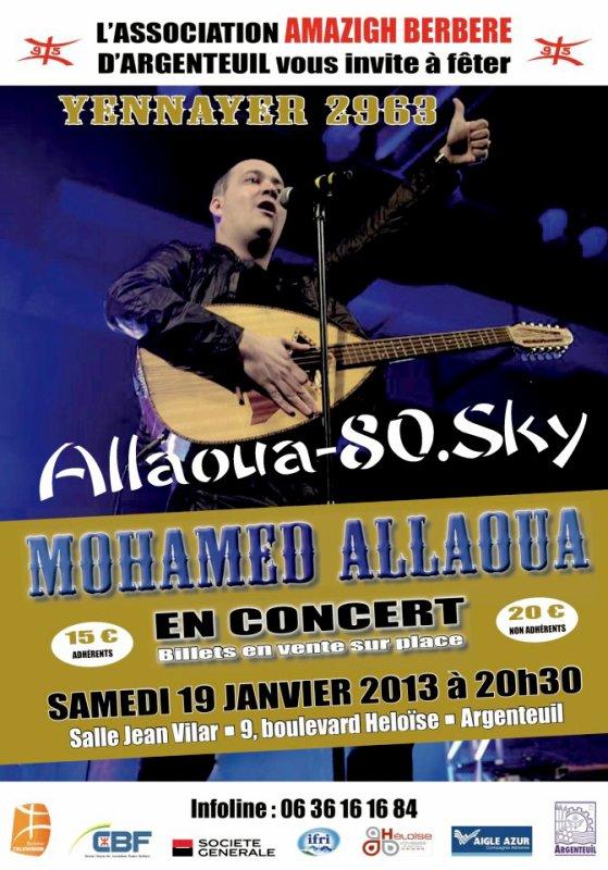 Le Prince Allaoua  EN CONCERT  à La Salle Jean Vilar SAMEDI 19 JANVIER 2013 à 20h30