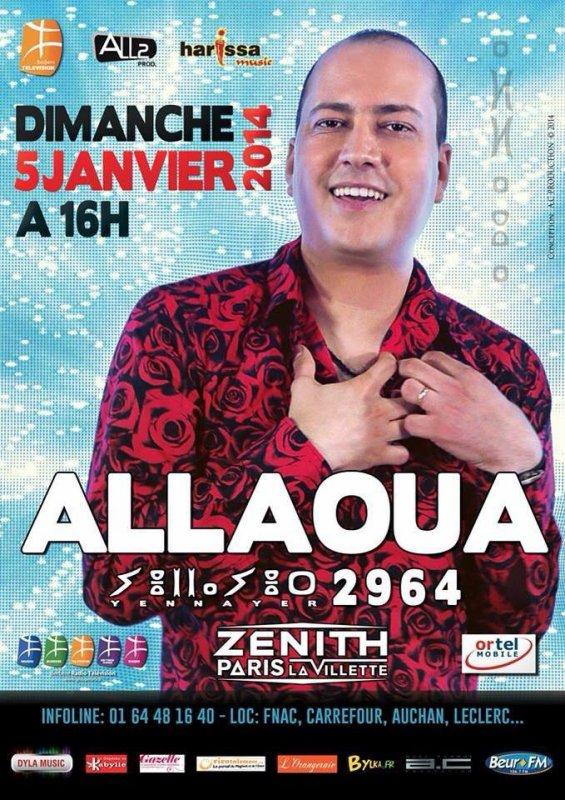 RENDEZ VOUS LE DIMANCHE 5 JANVIER 2014 A 16H AU ZÉNITH DE PARIS