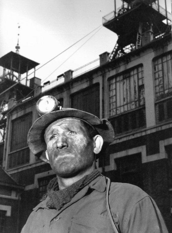 Mineur des mines de Lens en 1954