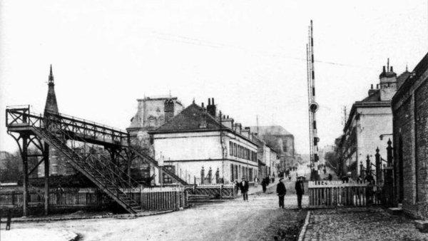 Bruay en Artois, passage à niveau de la fosse N° 1 en 1919.