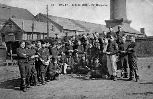 Vue ancienne de Bruay en Artois: Grève des mineurs de 1906 - 2