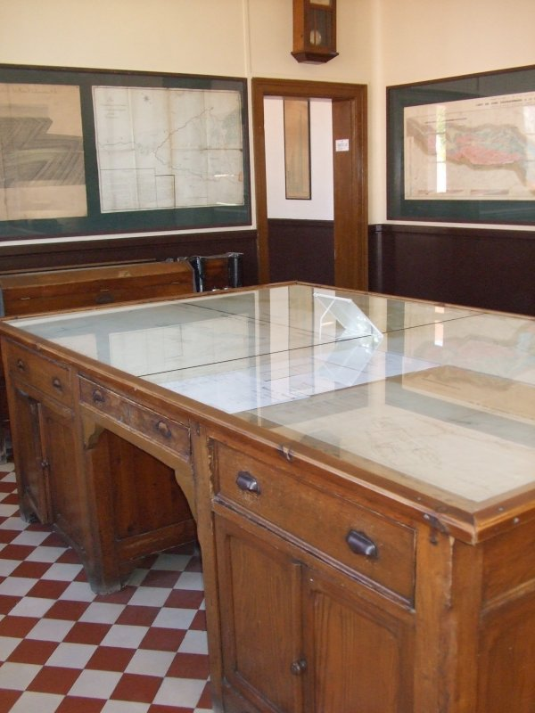 Le bureau des géomètres.