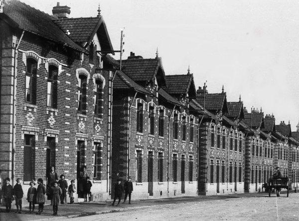 Bruay, avenue des fleurs ou boulevard de la fosse 6 en 1920.