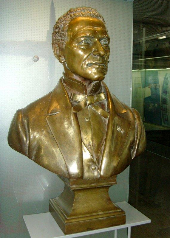 Buste de François Eugène Soyez - bronze seconde moitié du XIX ème.