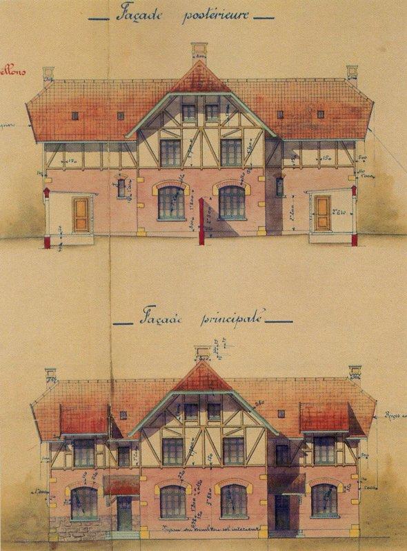 Corons miniers - plan d'habitation d'une maison type 15 M de la Compagnie des Mines de Béthune.