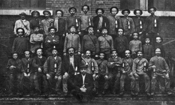 Groupe de mineurs fosse N°5 d'Auchel - 1912