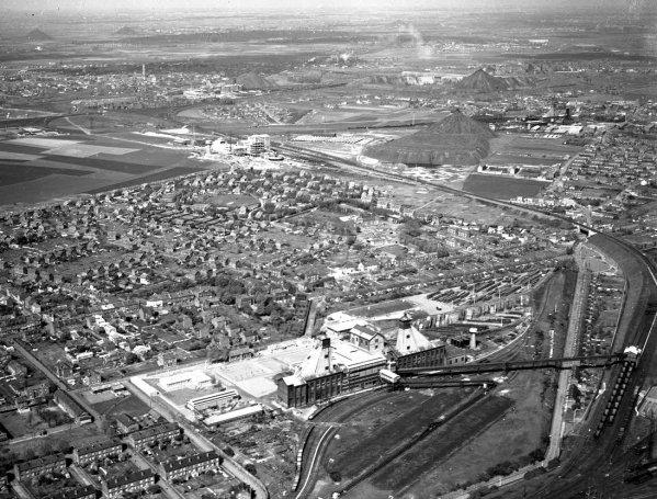 Vue aérienne du siège 3 - 15 de Méricourt.