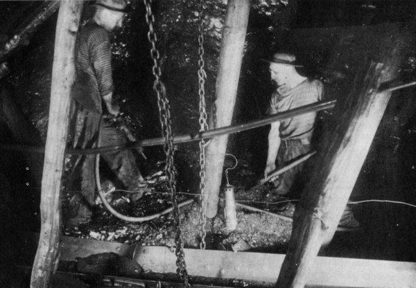 Dans une taille de la fosse 7 de Lens en 1930