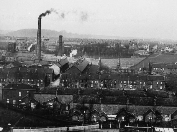 Bruay en Artois, quartier de la fosse N° 1 vers 1920.