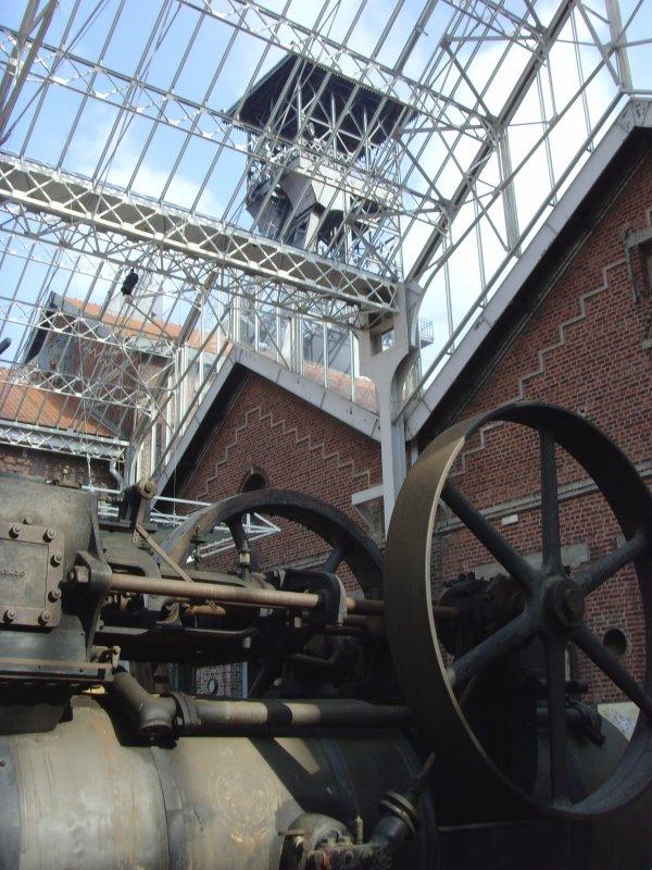 Vue du puits 2 de la fosse Delloye  - Centre Historique Minier de Lewarde