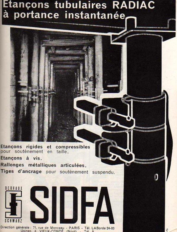 Etançons tubulaires RADIAC SIDFA