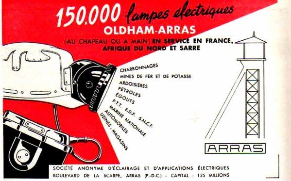 Lampes électriques au chapeau ARRAS