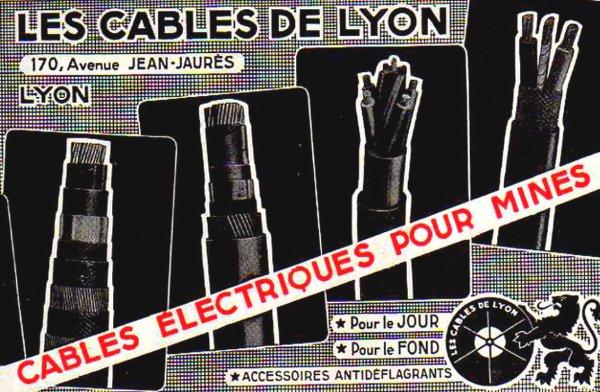 Les Câbles de Lyon ( câbles et accessoires électriques miniers antidéflagrants )