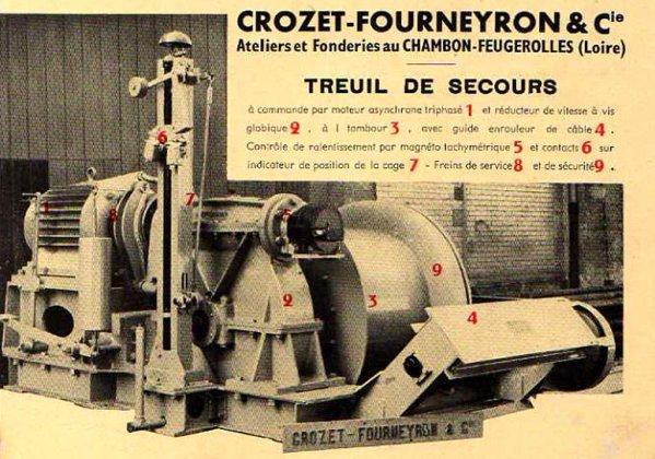 Crozet - Fourneyront et Cie - constructeur de treuils de secours.