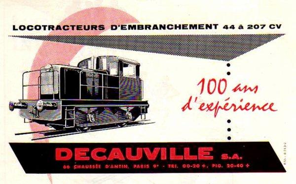 DECAUVILLE, constructeur de locotracteurs.