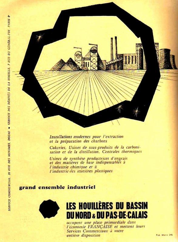 Encart publicitaire des H.B.N.P.C en 1957.