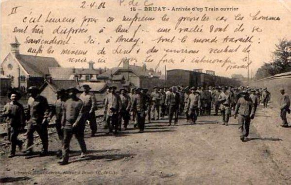 Vue ancienne de Bruay en Artois: Grève des mineurs d avril 1906