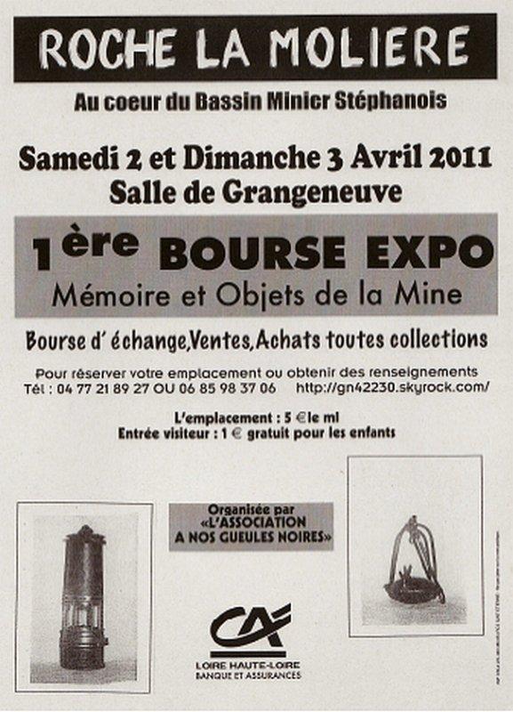 Première bourse de l' objet minier à Roche La Molière