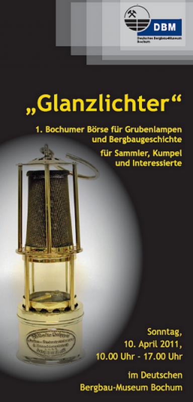Bourse d'échange de lampes minières à Bochum ( Allemagne ) le 10 avril 2011