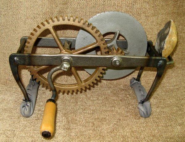 Le flint Mill de Carliste Spedding, l'un des premiers modes d'éclairage au fond.