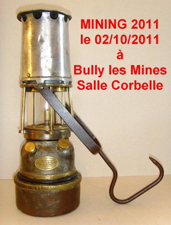 11 ème édition du salon de l'objet minier, MINING 2011, dimanche 2 octobre 2011 salle Corbelle à Bully les Mines.
