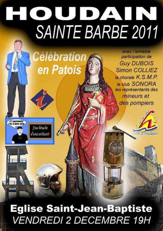 Houdain, célébration de la Sainte Barbe 2011 en patois.