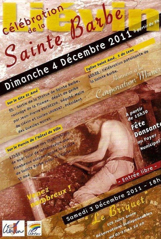 Célébration de la Sainte Barbe à Liévin, dimanche 4 décembre 2011.