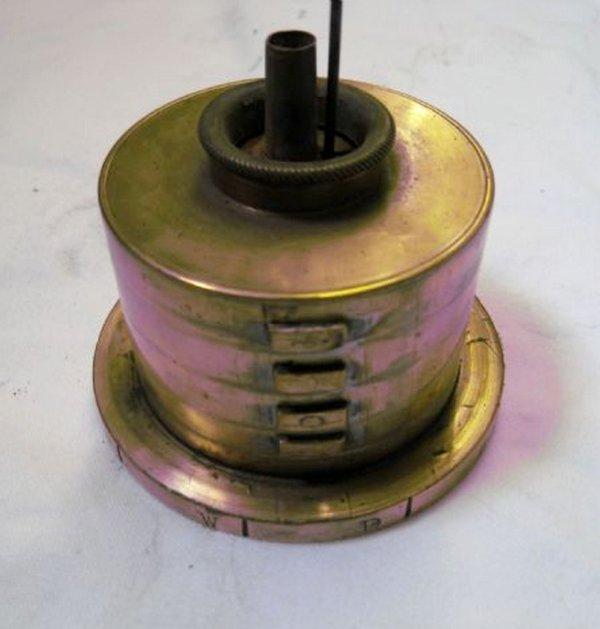 La lampe de mineur britannique cryptographe d' Archibald de Glasgow.
