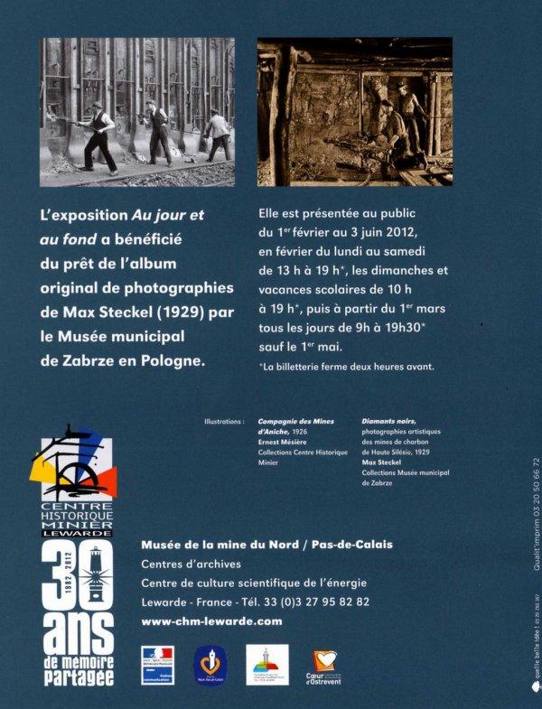"""Exposition """" AU JOUR & AU FOND """" au Centre Historique Minier de Lewarde"""