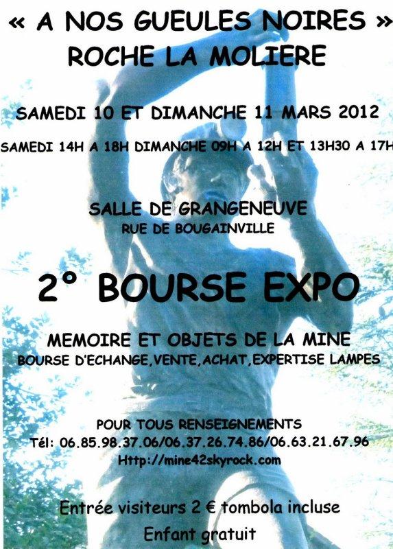 Roche La Molière ( dpt 42 ) Seconde bourse expo de l' objet minier les 10 et 11 mars 2012