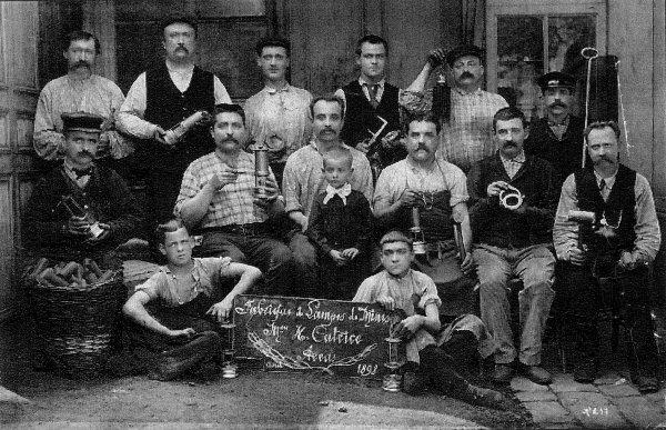 Fabrique de lampes de mineur Henri Catrice à Arras en 1898.