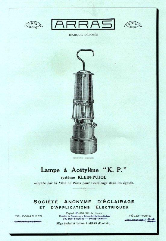 Encarts publicitaires des lampes ARRAS - 1/2