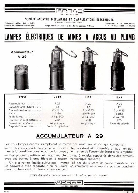 Encarts publicitaires des lampes ARRAS - 2/2