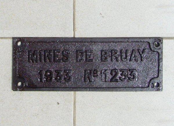 Plaques des Compagnies minières de Bruay et de l' Escarpelle