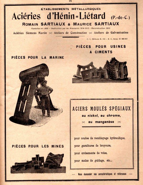 Publicités matériels miniers - L'industrie minérale années 1930 - 3/3