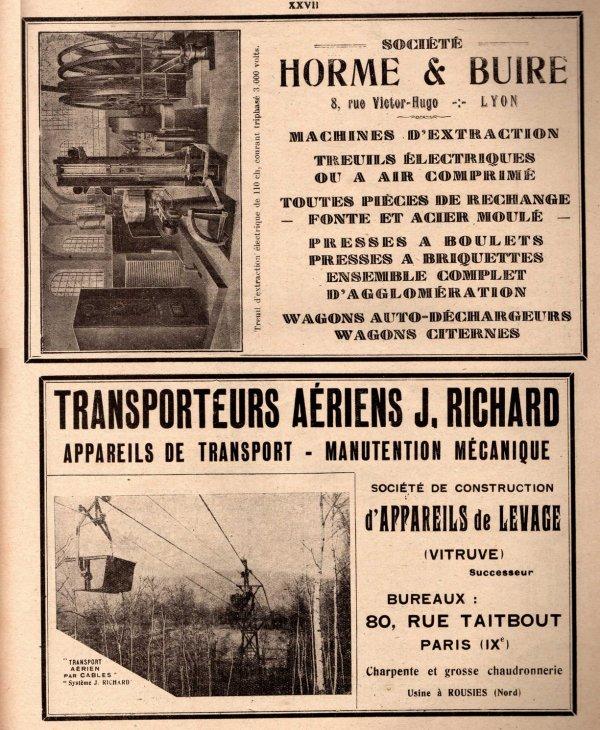 Publicités matériels miniers - L'industrie minérale années 1930 - 2/3