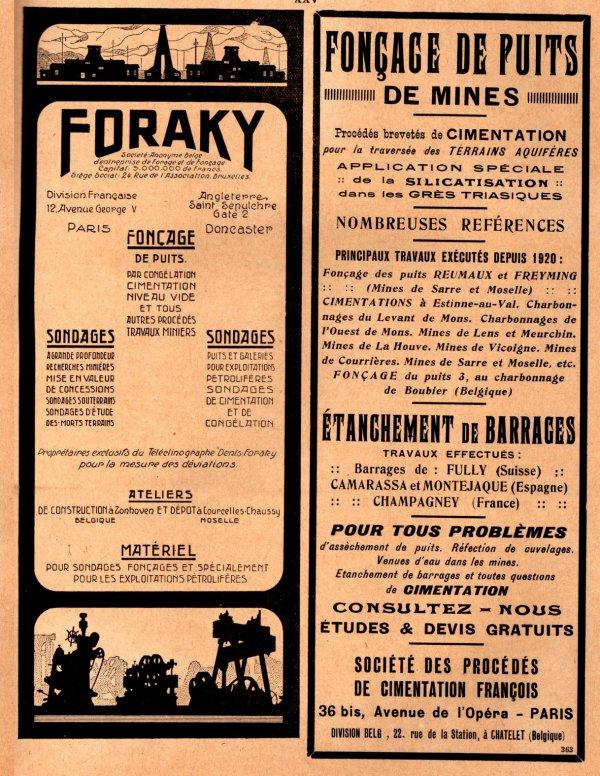 Publicités matériels miniers - L'industrie minérale années 1930 - 1/3