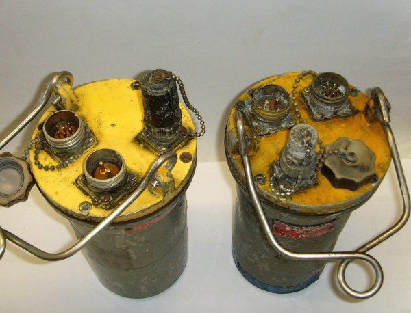 Têtes de télégrisoumétrie CMI et VT 60 et grisoumètre portatif Léon type VM1.